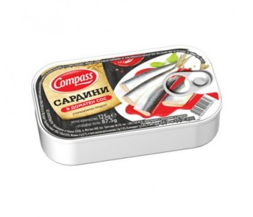 Sardinen in Tomatencreme, 125g (Compass)