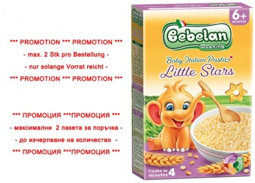 Nudeln -Little Stars- PROMOTION, 350g (Bebelan)